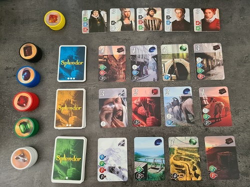 splendor jeu disposition des cartes